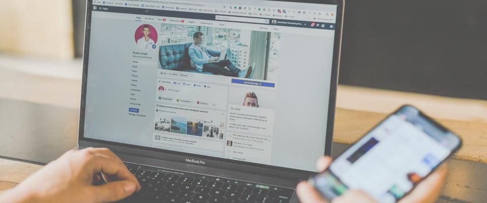 Social brand phone laptop